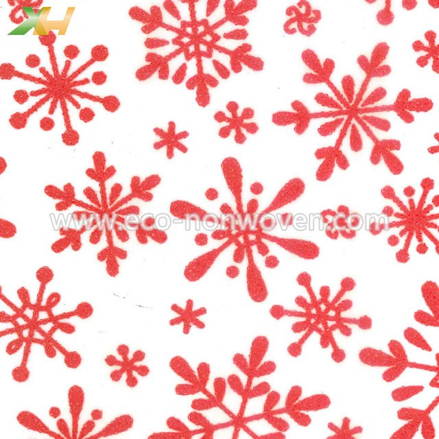 Italy Christmas Red Printed PP Spunbond TNT Non Woven For Flowers