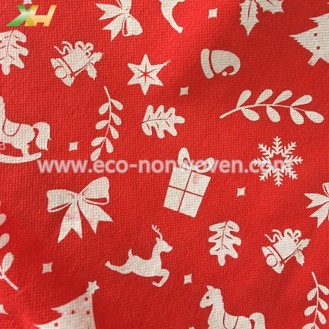 Vivid Printed PP Spunbond Nonwoven Fabric for Christmas