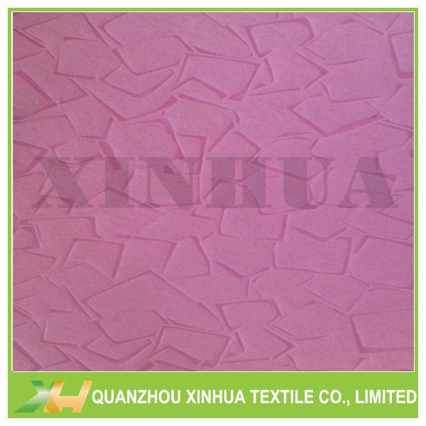 Stone Embossed Pink PP Spunbond Nonwoven Fabric