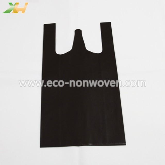 Customized cheap prices nonwoven vest bag/ nonwoven t shirt bag make