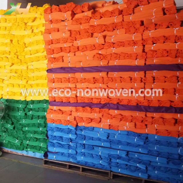 Different Size Colorful PP Nonwoven Vest Shopping Bag Non Woven T-shirt Bag