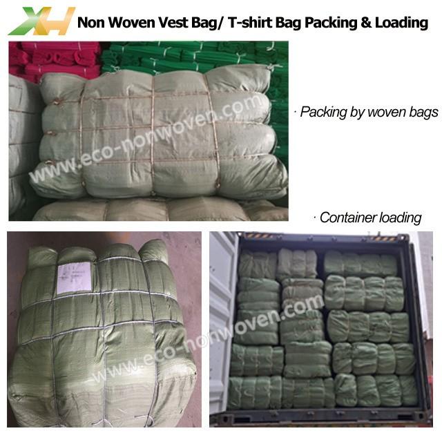 Eco-friendly Plum Color PP Spunbond Non-woven Vest Bag