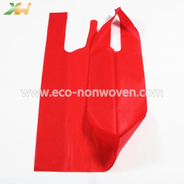 Kenya cheap price polypropylene 40gsm nonwoven vest bag/non-woven t-shirt bag