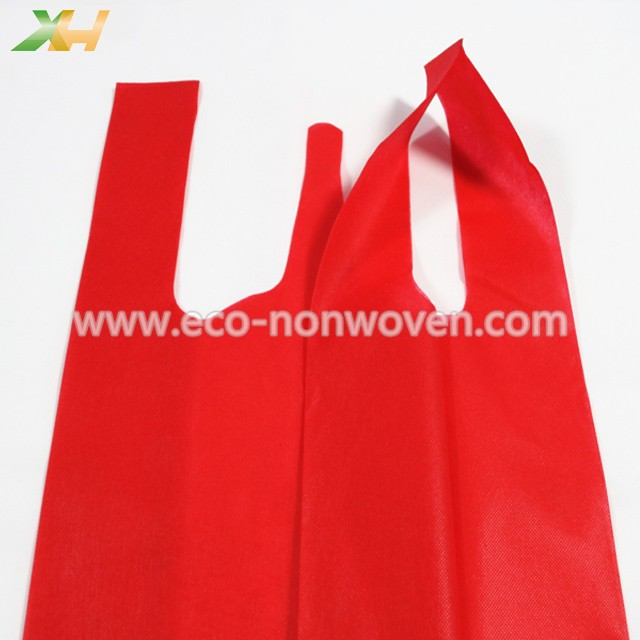 Low MOQ & cheap prices quick delivery colorful non woven t shirt shopping bag